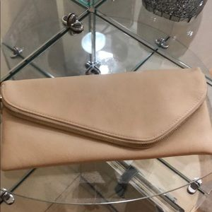Handbags - Nude and Gold Clutch Vicki look a like clutch